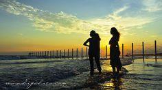 sunset kugenuma  yuko & yuka by higehiro, via Flickr