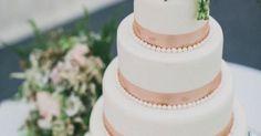 Roses & Ribbons: Rachel + Chris' Tullyveery House Wedding | Gold wedding cakes, Modern calligraphy and White wedding cakes