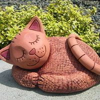 Clay Cats, Cat Statue, The Good Old Days, Cat Art, Ceramic Art, Zentangle, Art Drawings, Sculptures, Pottery