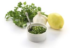 Green sauces can be found in cultures around the world. Some of my favorites are those that come out of Italy, namely pestos like this Parsley Gremolata.
