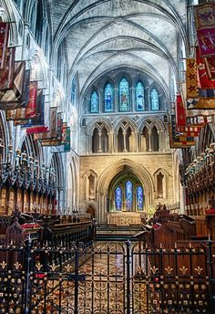 Interior St. Patrick's Cathedral. Dulbin, IRELAND. I sang Evensong here. It was beautiful.