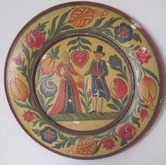 Large Hand Painted Folk Art  Pennsylvania Dutch by whatsoldisnew1, $25.00