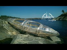 Самодельная прозрачная байдарка из веток и пленки Homemade stretch wrap kayak - YouTube