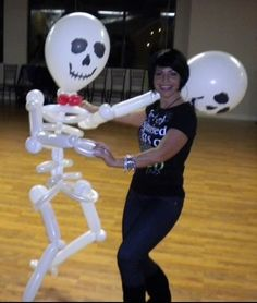 Life Size Balloon Skeleton for a Halloween Party