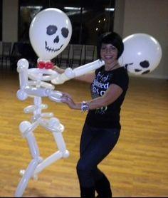 Balloon Life Size Skeleton for a Halloween Party.