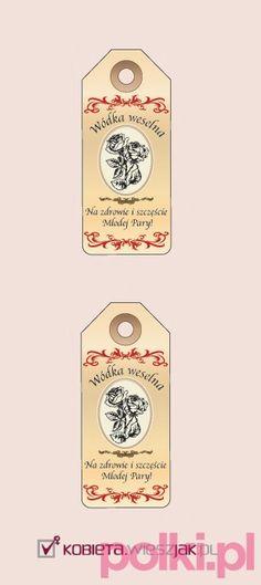 Etykietki na wódkę weselną - wystarczy wydrukować!