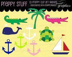 Need some preppy in your life? Preppy digital clip art graphics $5