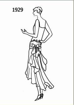 1929 -robe de soirée