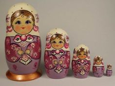 Artistic matryoshka with Handkerchief