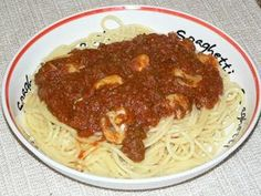 Spaghetti Sauce, Mets, How To Cook Pasta, Nom Nom, Pizza, Favorite Recipes, Cooking, Ethnic Recipes, Desserts