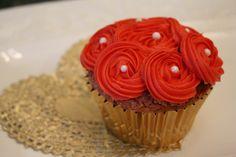 Roses valentines cupcakes
