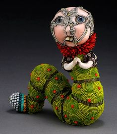 """Unique Junktique: Tuesday's Top Five Favorite Junk Finds #10 Featuring Beaded Mosaic Sculptures  """"Gomer"""" by Betsy Youngquist"""