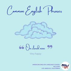 We're on cloud nine because it's Friday! Follow our page for more English tips and quizzes! English Phrases, English Language, Idioms And Phrases, English Tips, Language School, American English, Quizzes, Friday, Clouds