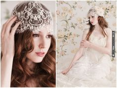Have you considered a lace cap veil?    Romantic Headpieces & Accessories By Enchanted Atelier   Bridal Musings   CHECK OUT MORE IDEAS AT WEDDINGPINS.NET   #weddings #weddinginspiration #inspirational