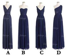navy blue bridesmaid dress, long bridesmaid dress, cheap bridesmaid dress…