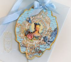 Inkheart Romantique 'Come Softly Eden', die cut and gold-gilded handpainted tags.    www.PaperNosh.etsy.com