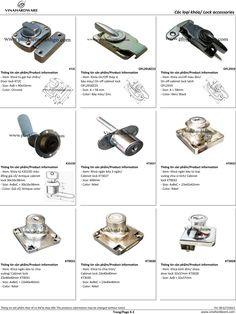 Phần X: Catalogue - Các loại khóa cửa khóa tủ