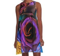 """Wild Roses"" by IKIosifelli Chiffon Shirt, Chiffon Tops, Dress For Success, Long Hoodie, Laptop Sleeves, Classic T Shirts, Roses, Mini Skirts, Shirt Dress"