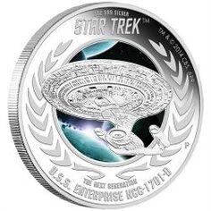 2015 Star Trek Next Generation USS Enterprise Silver Proof Coin? for Like the 2015 Star Trek Next Generation USS Enterprise Silver Proof Coin? Star Trek Logo, New Star Trek, Star Wars, Star Trek Enterprise, Uss Enterprise Ncc 1701, Perth, Mandala, Star Trek Universe, Star Trek Ships