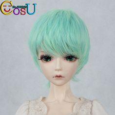 $12.99 (Buy here: https://alitems.com/g/1e8d114494ebda23ff8b16525dc3e8/?i=5&ulp=https%3A%2F%2Fwww.aliexpress.com%2Fitem%2FAttractive-Design-1-3-Hair-Dollfie-Doll-BJD-Wig-Blue-Green-Color-Mixture-Short-Hair-High%2F2012185361.html ) Attractive Design 1/3   Hair Dollfie Doll  BJD Wig Blue Green Color Mixture  Short Hair  High Quality Wig Free Shipping for just $12.99