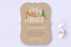 Fox Hollow Baby Shower Invitations by Jennifer Wick at minted.com