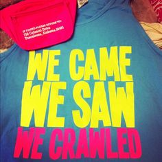 We came, we saw, we crawled. Senior Bar Crawl tank