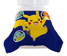 Polyester Imported Package includes one inches Twin comforter Fabric is soft polyester Microfiber Features Pikachu, ivy Saur, squirtle and charmander on a Navy ground Machine washable Comforter fits a standard Size Twin bed Charmander, Pikachu, Pokemon, Twin Comforter, Bedding, Kid Beds, Princess Peach, Comforters, Twins