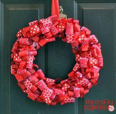 Ribbon Wreath, No Sew
