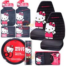 Hello kitty Car Seat Covers Accessories Compleate