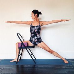 Virabhadrasana 2 Another great use of props for alignment
