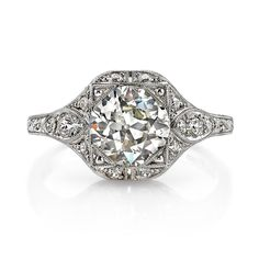 Single Stone Brigette Diamond Engagement Ring | Greenwich Jewelers