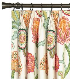 Eastern Accents Portia Flower Linen Floral Room Darkening Pich Pleat Single Curtain Panel Size per Panel: W x L Pinch Pleat Curtains, Pleated Curtains, Cool Curtains, Blue Curtains, Rod Pocket Curtains, Grommet Curtains, Drapery Fabric, Panel Curtains, Eclectic Curtains