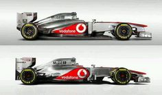 Side-by-side comparison of the MP4-28 to MP4-27