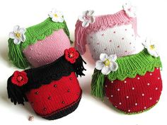 Knitted baby girls hat  baby girls spring beanie от MiaPiccina, $28.00