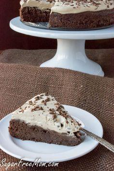 Sugar-Free Flourless Chocolate Espresso Fudge Cake
