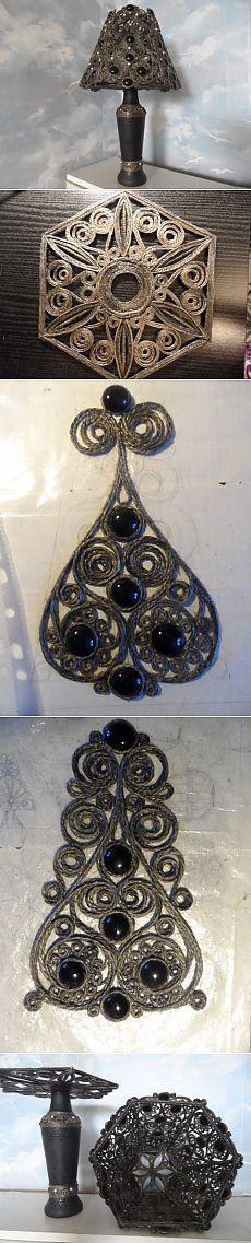 Lamp.  Black Lace.