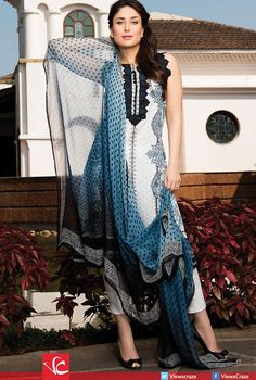 Faraz Manan Crescent Lawn Collection SS '15 Ft. Kareena Kapoor.