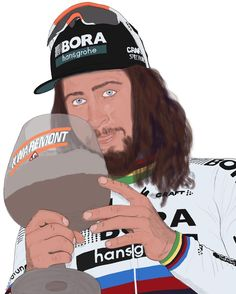 Peter Sagan wins Kuurne Brusse Kuurne 2017 credit Tim Vanbrabant IG Bicycle Art, Cycling Art, My Drawings, Champion, Baseball Cards, Sports, Biking, Hs Sports, Bike Art