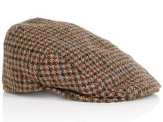 Barbour | Brown Tweed Dogtooth Crieff Flat Cap