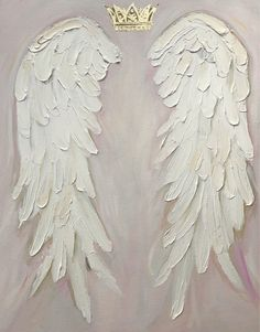 A personal favorite from my Etsy shop https://www.etsy.com/ca/listing/578184095/angel-wings-painting-chabby-chic-gold