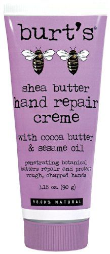 This is thick but works wonders for overworked sensitive hands. Cocoa Butter, Shea Butter, Sesame Oil, Burts Bees, Hand Cream, Beauty Skin, Lotion, Moisturizer, Skin Care