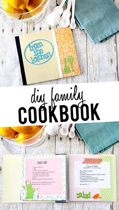 Fun family project!  DIY Cookbook using scrapbook embellishements and family recipes!  livelaughrowe.com