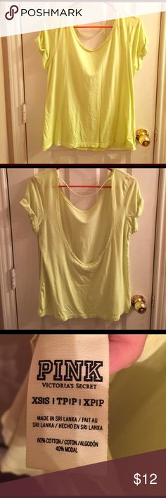 PINK open back shirt Great condition. Minimal wear. PINK Victoria's Secret Tops Tees - Short Sleeve