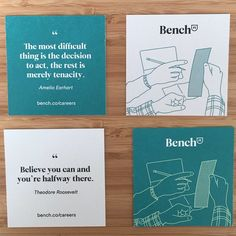 Quotations Leave Behind Recruitment Cards