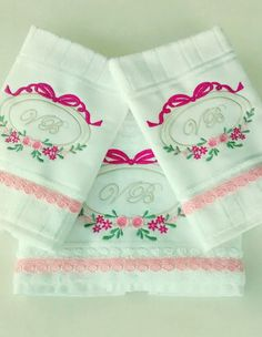 kit toalhas bordadas Sofia