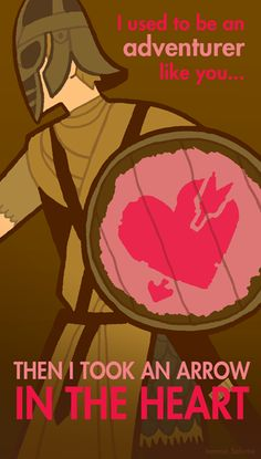 +5 bonus to LOVE.    Skyrim Valentine's Day Cards Warm Our Frigid Hearts