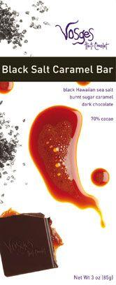 Vosges Haut-Chocolat Dark Chocolate, Black Salt Caramel Bar, (Pack of Black Hawaiian sea salt; Salted Caramel Bars, Sea Salt Caramel, Caramel Candy, Sea Salt Chocolate, Dark Chocolate Bar, Best Candy, Favorite Candy, Hawaiian Candy, Online Candy Store