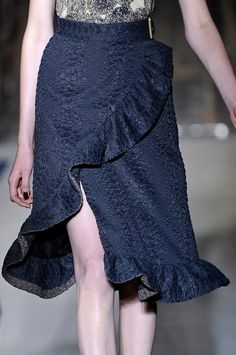 Yves Saint Laurent Spring 2011 skirt. Gorgeous fabric/texture.