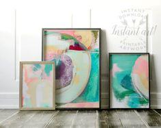 Abstract art Wall art PRINTABLE art Colorful art Abstract