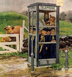 *Cub Scouts in A Phone Booth...Dick Sargent (1911 – 1978)